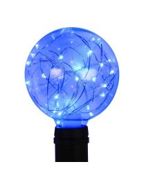 G95 LED Fairy Light Bulb - E26 Base - Blue