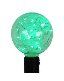G95 LED Fairy Light Bulb - E26 Base - Green