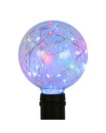 G95 LED Fairy Light Bulb - E26 Base - Red, Green and Blue
