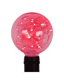G95 LED Fairy Light Bulb - E26 Base - Red