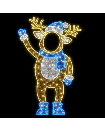 """6' 8"""" 2D LED Papa Deer - Photo Op Display"""