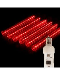 "12"" LED Falling Snow Tube - Red"