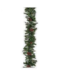 "9' x 14"" Mixed Pine Garland, Unlit"