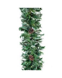 "9' x 18"" Mixed Pine Garland, Unlit"