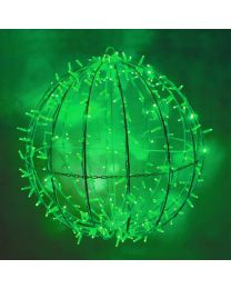 """Green LED Commercial Grade Foldable Sphere - 20"""", 30"""" and 40"""""""