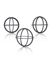 Holispheres - Set of 3 - Black