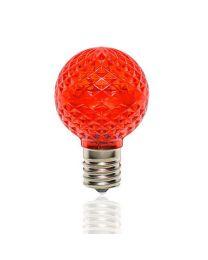 G40 LED Retrofit Bulb - Red - Minleon - Bag of 25