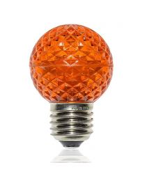 G50 LED Retrofit Bulb - Amber/Orange - E26 Base - Minleon - Bag of 10