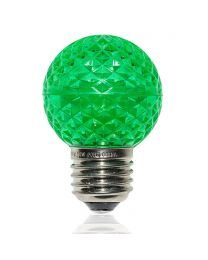 G50 LED Retrofit Bulb - Green - E26 Base - Minleon - Bag of 10