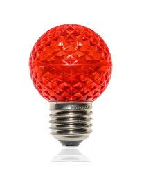 G50 LED Retrofit Bulb - Red - E26 Base - Minleon - Bag of 10
