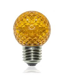 G50 LED Retrofit Bulb - Yellow - E26 Base - Minleon - Bag of 10