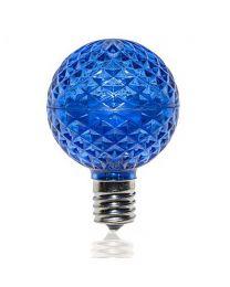 G50 SMD LED Retrofit Bulb - Blue - C9 Base - Minleon - Bag of 10