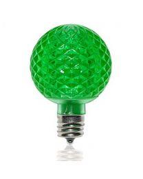 G50 SMD LED Retrofit Bulb - Green - C9 Base - Minleon - Bag of 10