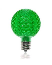 G50 SMD LED Retrofit Bulb - Green - C9 Base - Minleon - Bag of 10