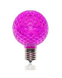 G50 SMD LED Retrofit Bulb - Purple - C9 Base - Minleon - Bag of 10