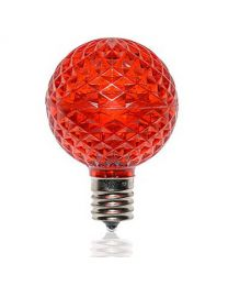 G50 SMD LED Retrofit Bulb - Red - C9 Base - Minleon - Bag of 10