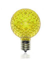 G50 SMD LED Retrofit Bulb - Yellow - C9 Base - Minleon - Bag of 10