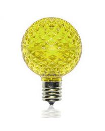 G50 SMD LED Retrofit Bulb - Yellow - C9 Base - Minleon - Bag of 10