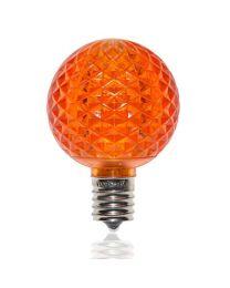 G50 SMD LED Retrofit Bulb - Amber/Orange - C9 Base - Minleon - Bag of 10