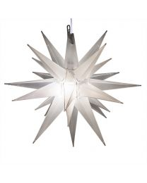 "14"" Moravian Star, Clear Frost"