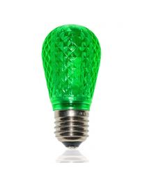 S14 LED Retrofit Bulb - Green - Minleon - Bag of 10