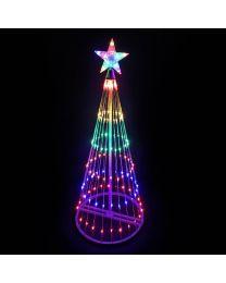 9' LED Light Show Tree-Multi