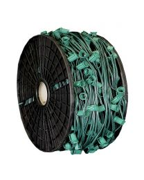 "C9 Cord, 12"" Spacing, Green Wire, SPT-1, 500'"
