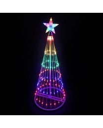 9' LED Light Show Tree-Multi