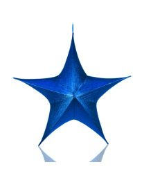 "32"" Foldable 3D Star - Metallic Blue"