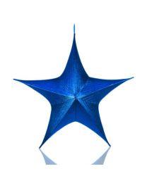 Blue Foldable 3D Metallic Star