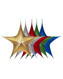 "Foldable 3D Star - 44"" - Metallic - 5 Colors Available"