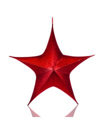 "32"" Foldable 3D Star - Metallic Red"