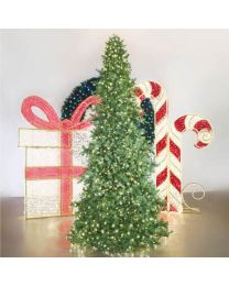 12' Majestic Slimline Tower Tree - Warm White