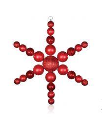 """31"""" Starflake, Red"""