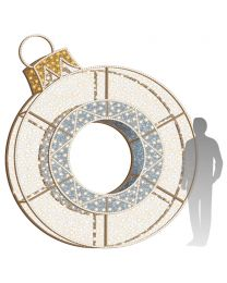 10' 3D LED Ornament Icon - Warm White