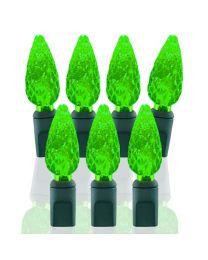 70 Light Lime Green C6 LED Christmas Lights