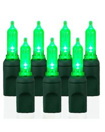 70 Light T5 Smooth Lime Green LED Christmas Lights