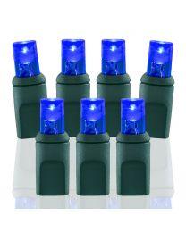 35 Light Blue 5 mm Wide Angle Conical LED Christmas Lights