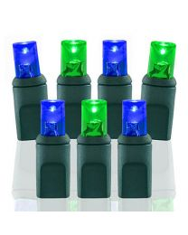70 Light Green & Blue 5 mm Wide Angle Conical LED Lights