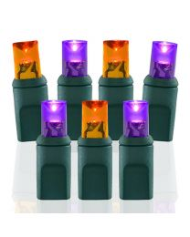 70 Light Purple & Amber/Orange 5 mm Wide Angle Conical LED Lights