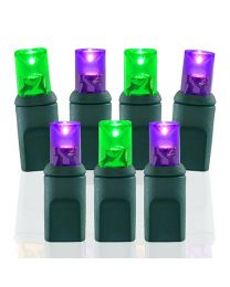 70 Light Purple & Lime Green 5 mm Wide Angle Conical LED Lights