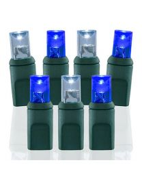 70 Light Pure White & Blue 5 mm Wide Angle Conical LED Lights