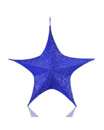 "32"" Foldable 3D Star - Polymesh - Blue"
