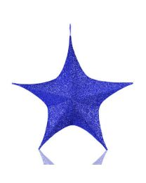 Blue Foldable 3D Polymesh Star