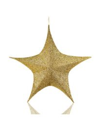 Gold Foldable 3D Polymesh Star
