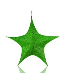"16"" Foldable 3D Star - Polymesh - Green"