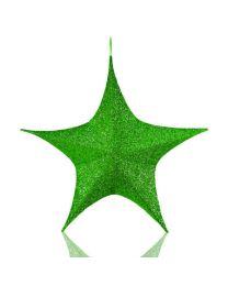 Green Foldable 3D Polymesh Star