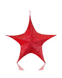 "16"" Foldable 3D Star - Polymesh - Red"