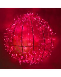 """Red LED Commercial Grade Foldable Sphere - 20"""", 30"""" and 40"""""""