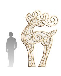10' LED Reindeer Icon - Warm White